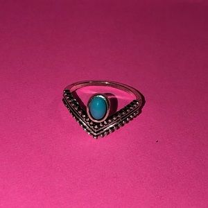 Brand new silver & turquoise costume jewelry ring